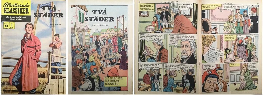 Illustrerade klassiker 21-30: Omslag, förstasida och mittuppslag ur IK nr 30. ©IK/Gilberton