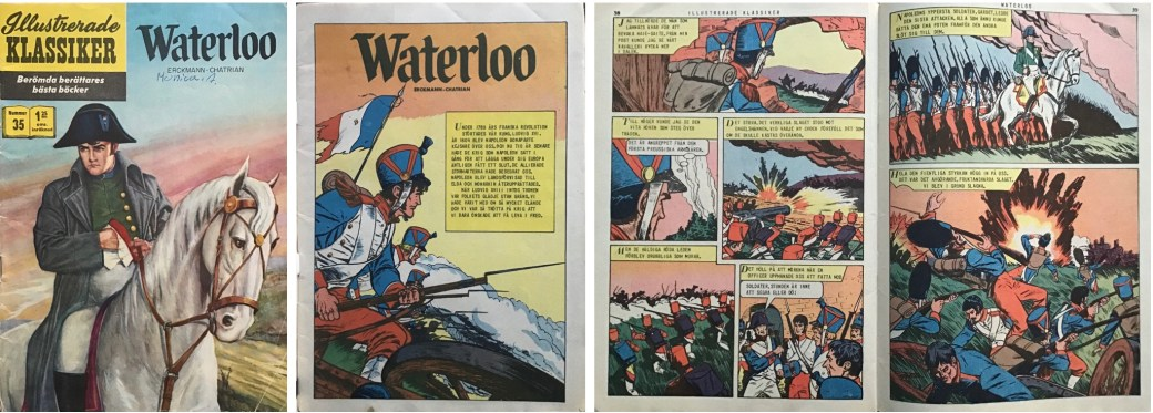 Illustrerade klassiker 31-40: Omslag, förstasida och ett uppslag ur IK nr 35. ©IK/Gilberton