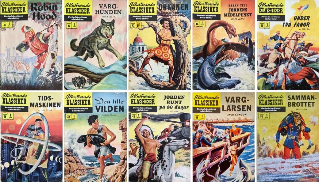 Omslag till Illustrerade klassiker nr 41-50 (1957-58). ©IK/Gilberton