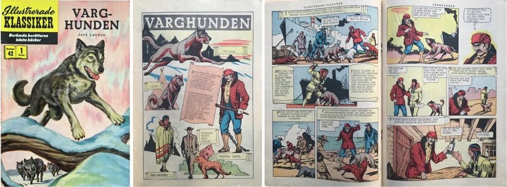 Illustrerade klassiker 41-50: Omslag, förstasida och ett uppslag ur IK nr 42. ©IK/Gilberton