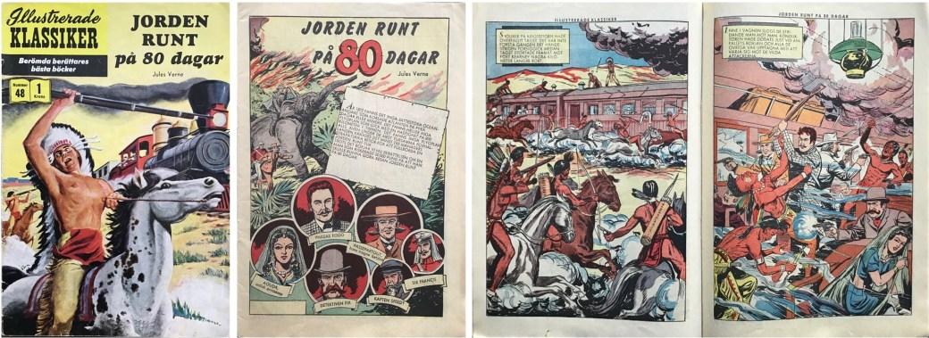 Illustrerade klassiker 41-50: Omslag, förstasida och ett uppslag ur Illustrerade klassiker nr 48. ©IK/Gilberton