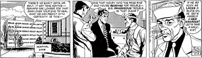 Motsvarande stripp i original, från 14 mars 1955. ©KFS