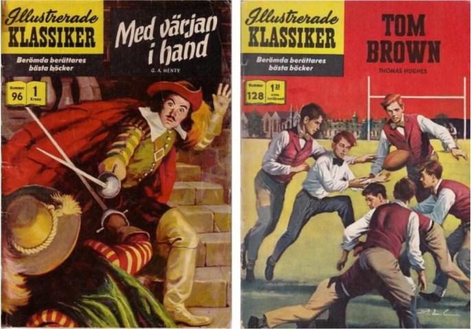Två nummer av Illustrerade klassiker tecknade av John Tartaglione. ©IK/Gilberton