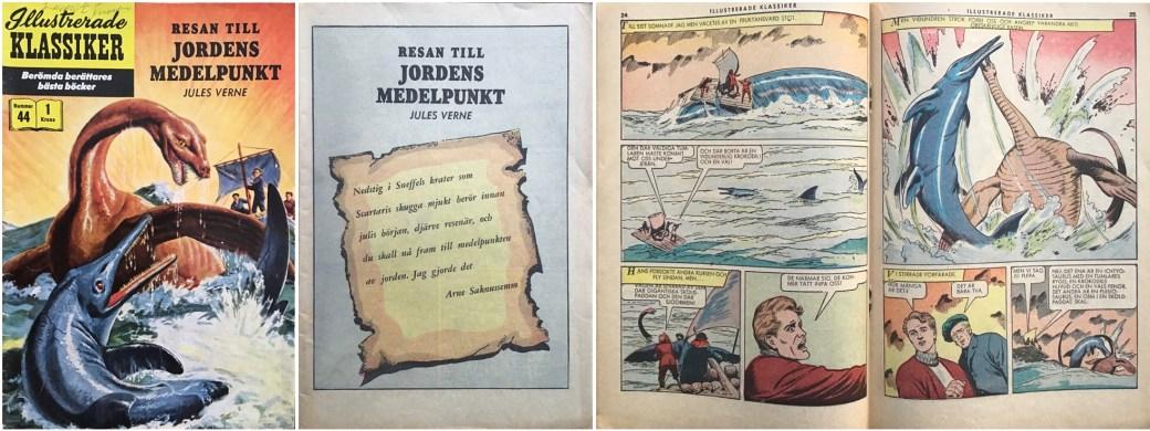 Illustrerade klassiker 41-50: Omslag, förstasida och mittuppslag ur IK nr 44. ©IK/Gilberton
