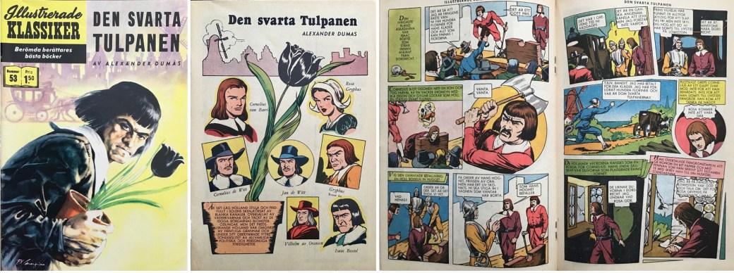 Illustrerade klassiker 51-60: Omslag, förstasida och mittuppslag ur IK nr 53. ©IK/Gilberton