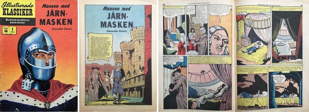 Illustrerade klassiker 51-60: Omslag, förstasida och ett uppslag ur IK nr 56. ©IK/Gilberton