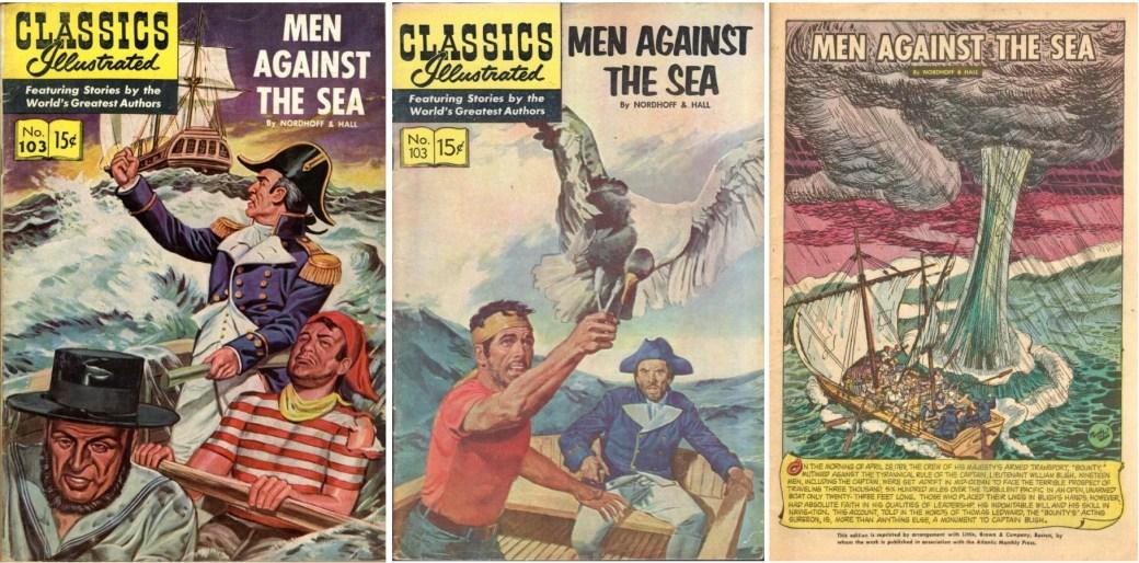 Omslag till CI #103 från 1953 och 1956, och förstasida. ©Gilberton