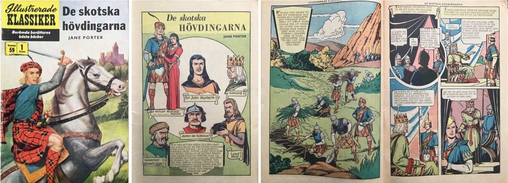 Illustrerade klassiker 51-60: Omslag, förstasida och ett uppslag ur IK nr 59. ©IK/Gilberton