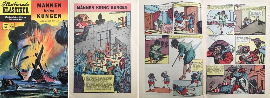 Illustrerade klassiker 51-60: Omslag, förstasida och ett uppslag ur IK nr 60. ©IK/Gilberton