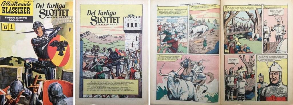 Illustrerade klassiker 61-70: Omslag, förstasida och ett uppslag ur IK nr 63. ©IK/Gilberton