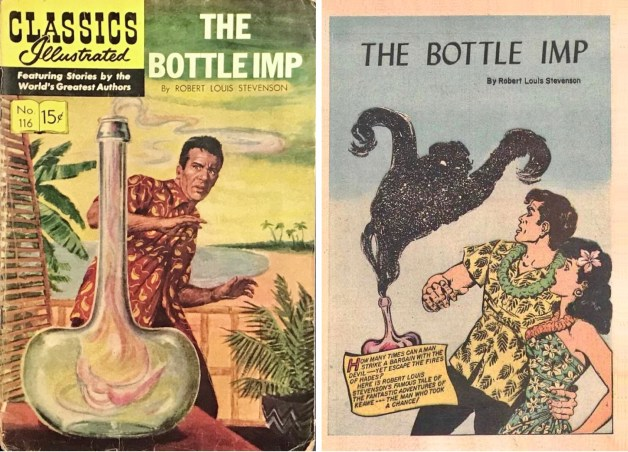Omslag och förstasida ur Classics Illustrated #116. ©Gilberton