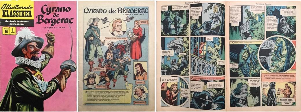 Illustrerade klassiker 61-70: Omslag, förstasida och ett uppslag ur IK nr 66. ©IK/Gilberton