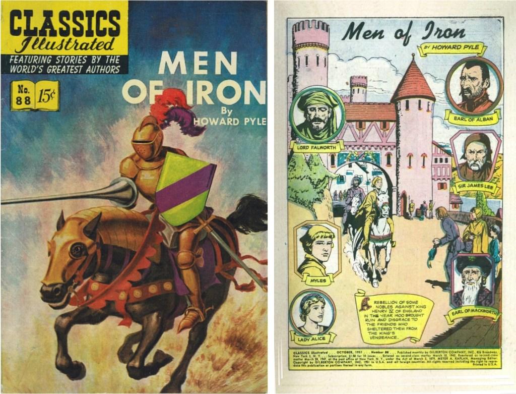 Omslag och förstasida ur Classics Illustrated #88. ©Gilberton
