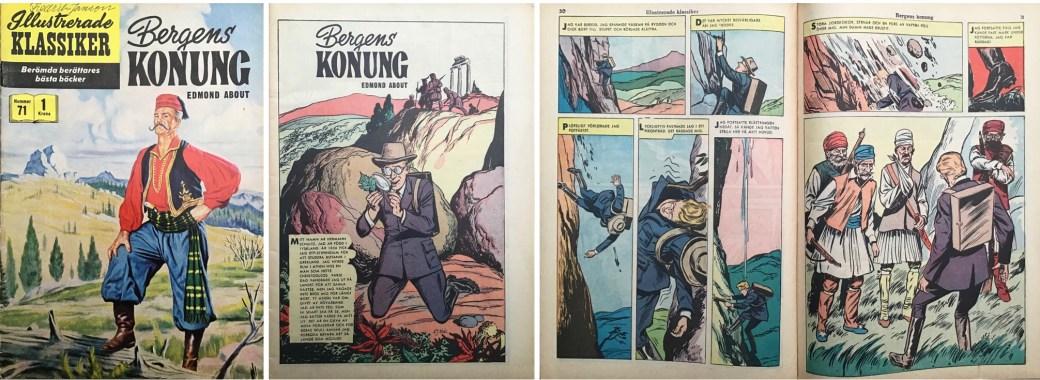 Illustrerade klassiker 51-60: Omslag, förstasida och ett uppslag ur IK nr 71. ©IK/Gilberton