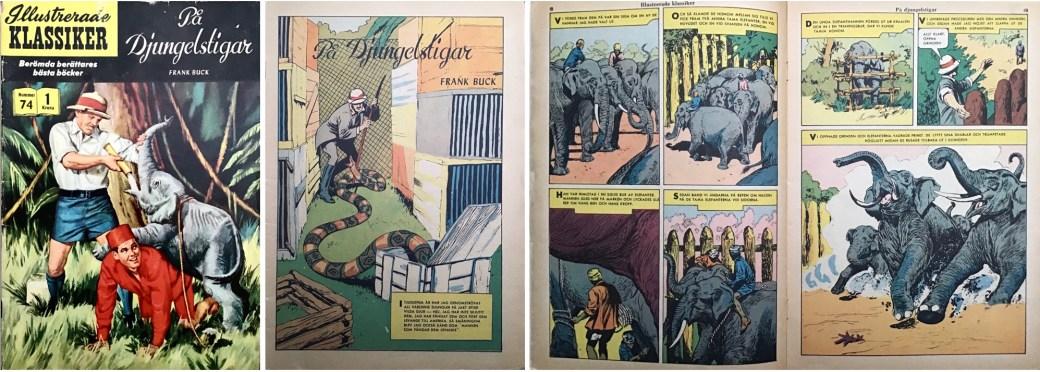 Omslag, förstasida och ett uppslag ur IK nr 74. ©IK/Gilberton