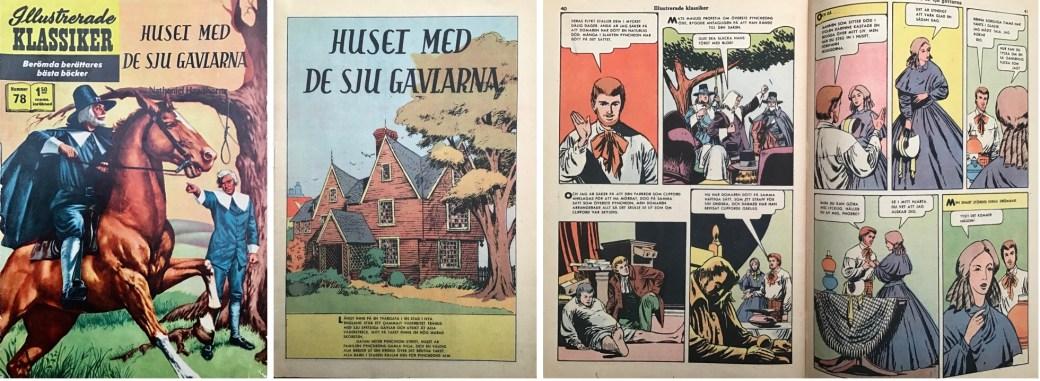 Illustrerade klassiker 71-80: Omslag, förstasida och mittuppslag ur IK nr 78. ©IK/Gilberton