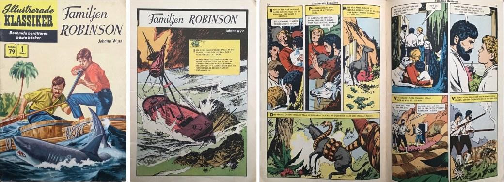 Illustrerade klassiker 71-80: Omslag, förstasida och ett uppslag ur IK nr 79. ©IK/Gilberton