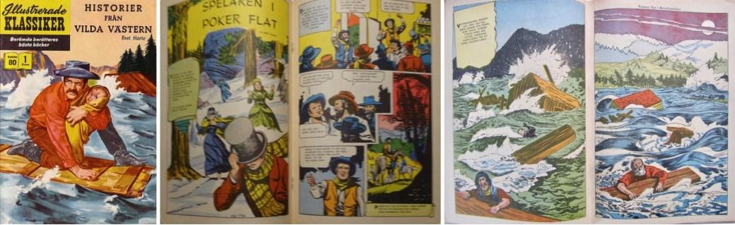 Illustrerade klassiker 71-80: Omslag och ett par uppslag ur IK nr 80. ©IK/Gilberton