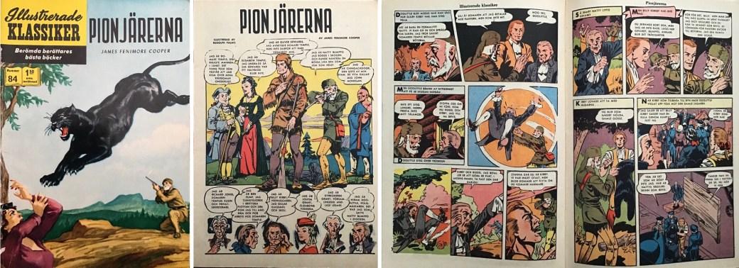Illustrerade klassiker 81-90: Omslag, förstasida och ett uppslag ur IK nr 84. ©IK/Gilberton