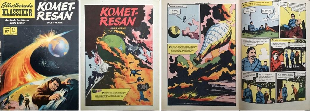 Illustrerade klassiker 81-90: Omslag, förstasida och ett uppslag ur IK nr 87. ©IK/Gilberton