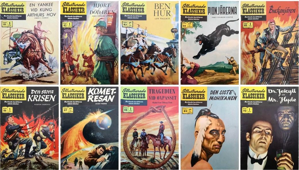 Omslag till Illustrerade klassiker nr 81-90 (1959). ©IK/Gilberton