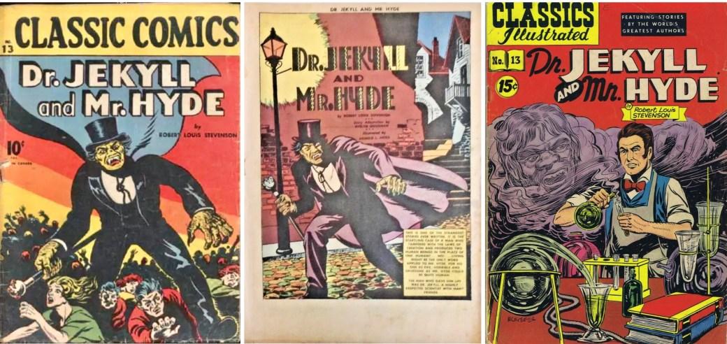 Omslag och förstasida ur CC #13, och omslag till CI #13 från 1949. ©Gilberton