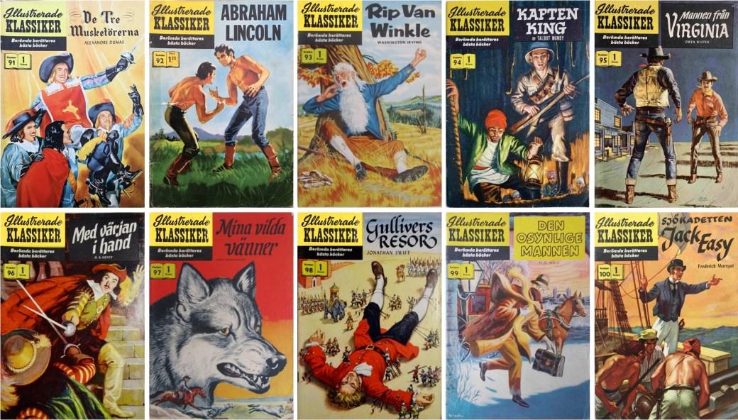 Omslag till Illustrerade klassiker nr 91-100 (1959-60). ©IK/Gilberton