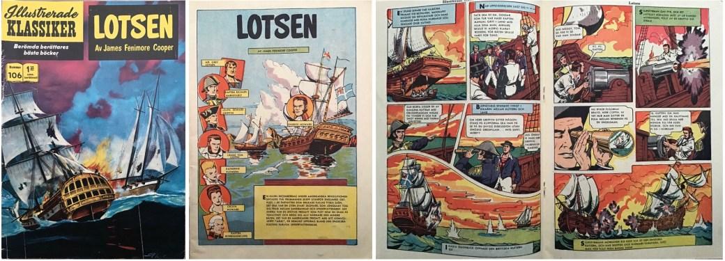 Omslag, förstasida och mittuppslag ur IK nr 106. ©IK/Gilberton