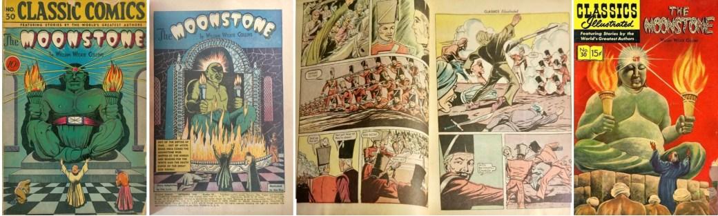Omslag, förstasida och ett uppslag ur CC #30 (1946), och omslag till CI #30 (1960). ©Gilberton