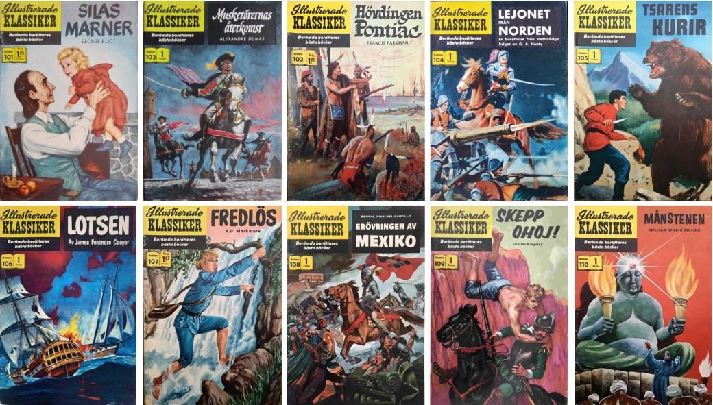 Omslag till Illustrerade klassiker nr 101-110 (1960). ©IK/Gilberton
