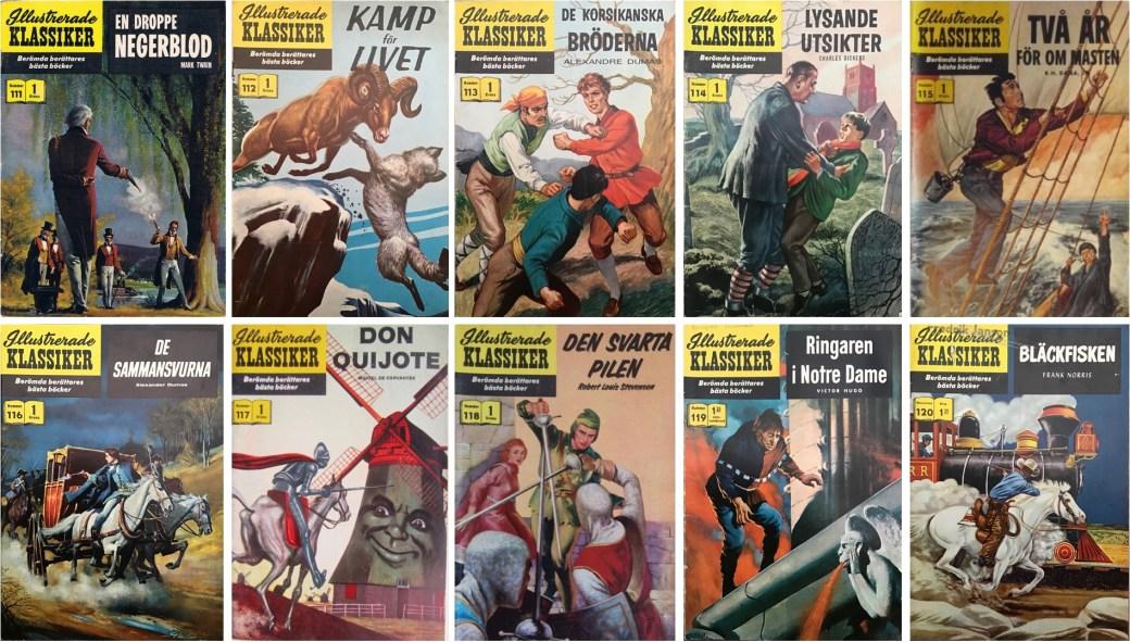 Omslag till Illustrerade klassiker nr 111-120 (1960). ©IK/Gilberton