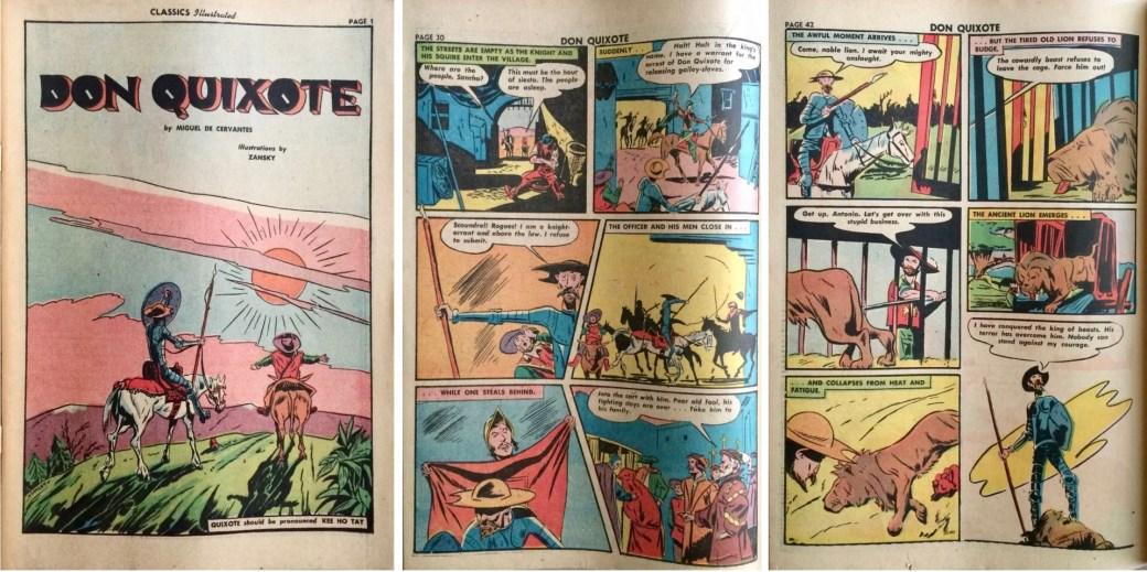 Förstasida och ett par sidor ur inlagan från Classic Comics #11. ©Gilberton