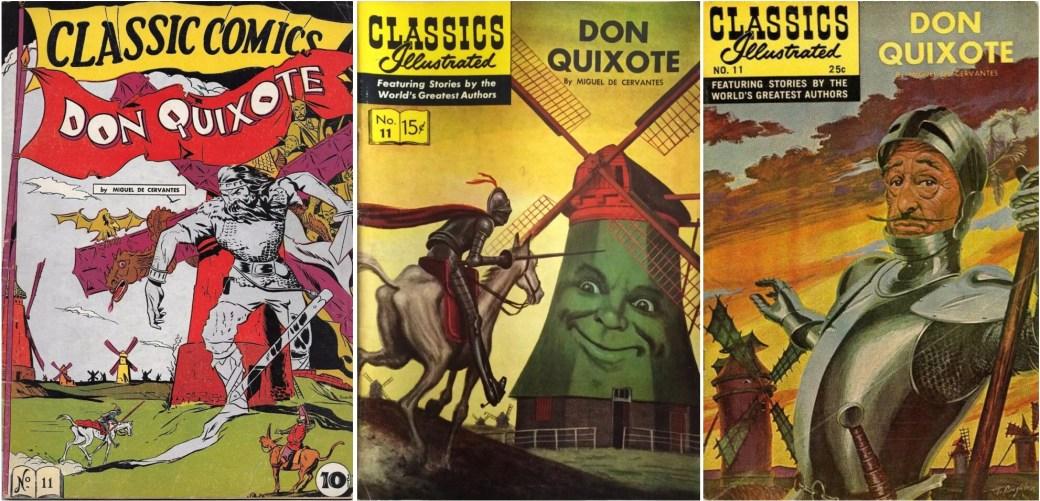 Omslag till Classic Comics #11 (1943), och Classics Illustrated #11 (1953 och 1968).
