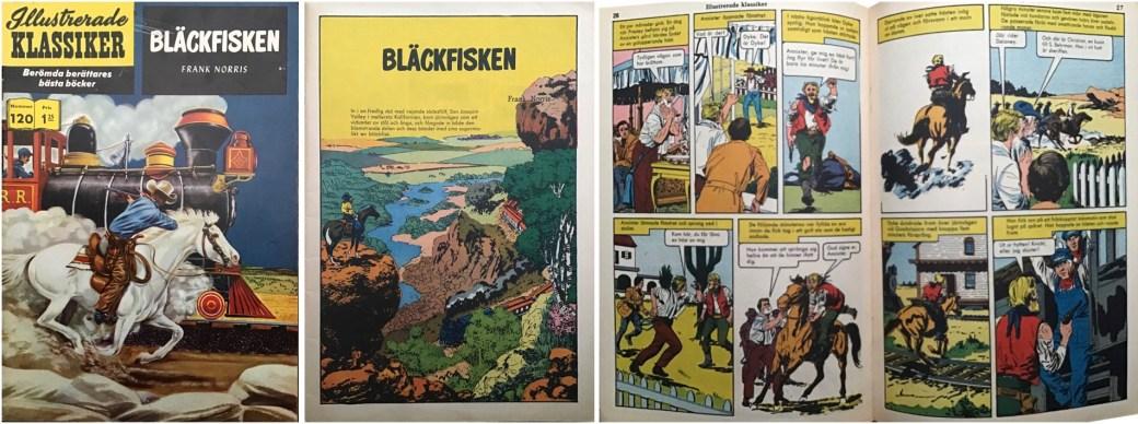 Illustrerade klassiker 111-120: Omslag, förstasida och ett uppslag ur IK nr 120. ©IK/Gilberton