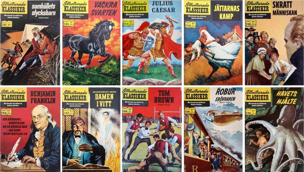 Omslag till Illustrerade klassiker nr 121-130 (1960-61). ©IK/Gilberton