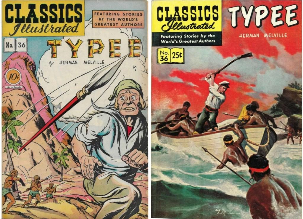Omslag till Classics Illustrated #36 från 1947 och 1960. ©Gilberton
