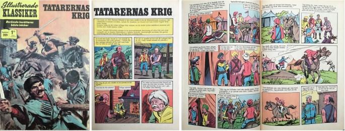 Omslag, förstasida och mittuppslag ur Illustrerade klassiker nr 209. ©Williams