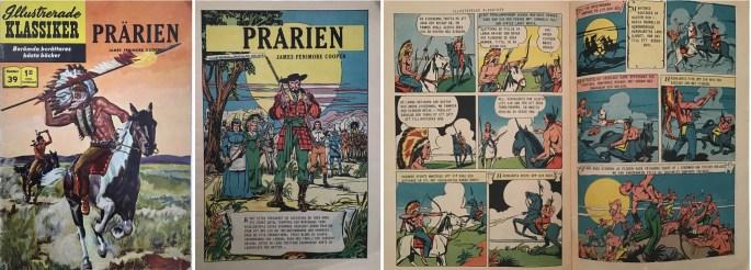 Illustrerade klassiker 31-40: Omslag, förstasida och ett uppslag ur IK nr 39. ©IK/Gilberton