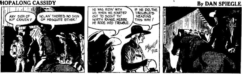 Dagsstrippen från 11 september 1954. ©KFS