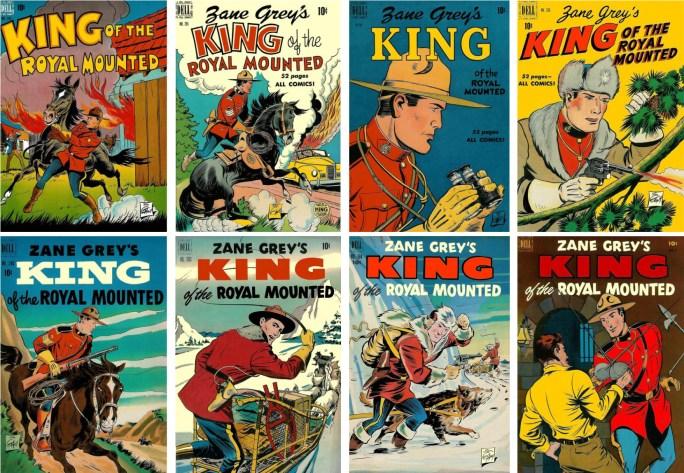 Serien King of the Royal Mounted i titeln Four Color, och första numret (nr 8) som egen titel. ©Dell