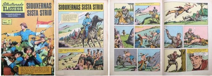 Omslag, förstasida och ett uppslag ur Illustrerade klassiker nr 185. ©Williams