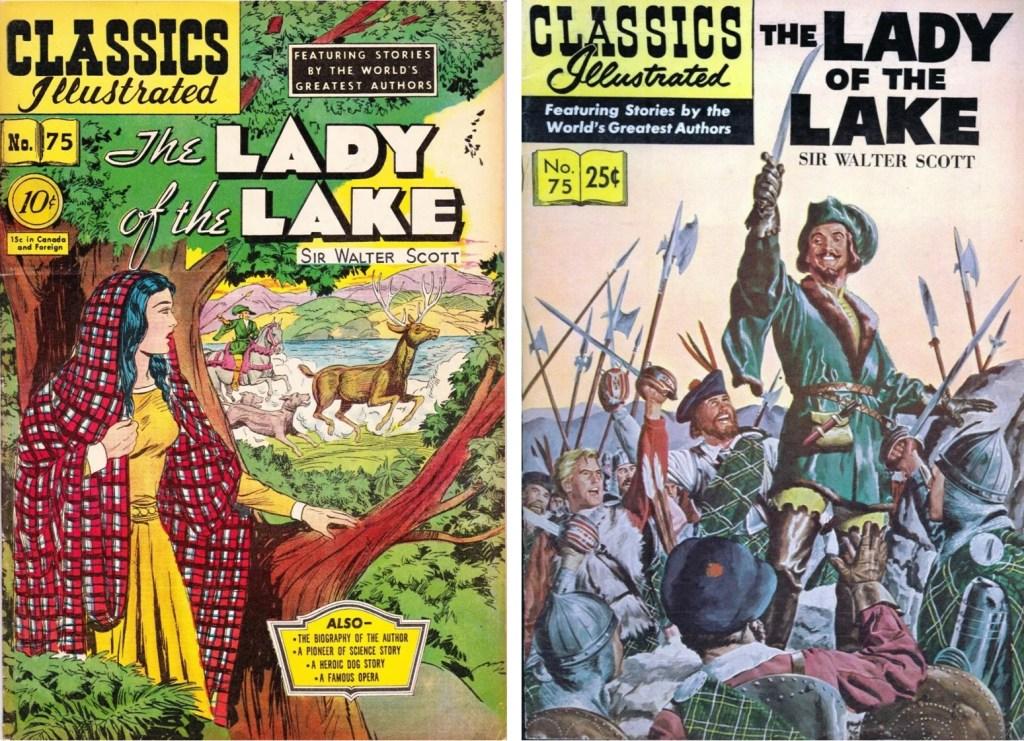 Omslag till Classics Illustrated #75 från 1950 och 1957. ©Gilberton