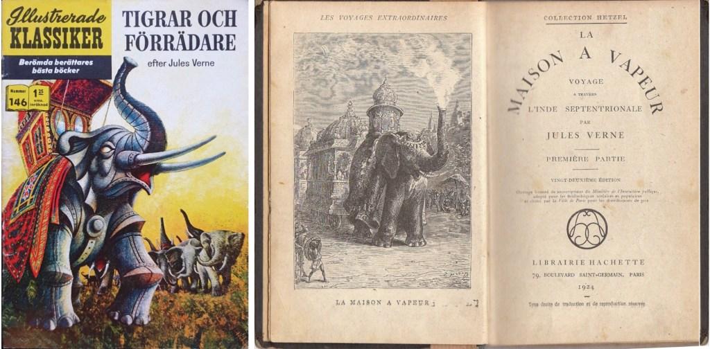 Illustrerade klassiker 141-150: Omslag till IK nr 146, och romanen av Jules Verne. ©IK/Gilberton
