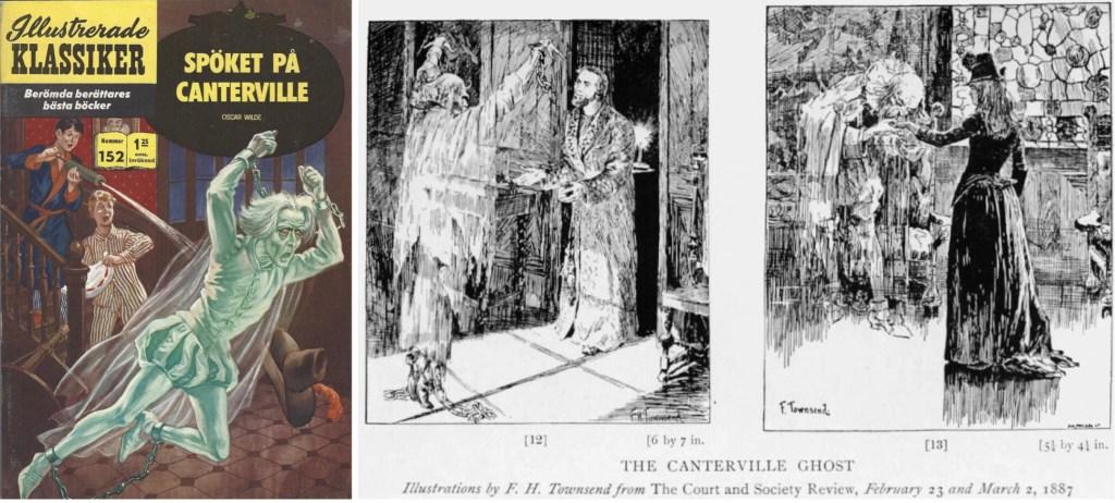 Omslag till Illustrerade klassiker nr 152, och illustrationer från den ursprungliga publiceringen. ©IK/T&P