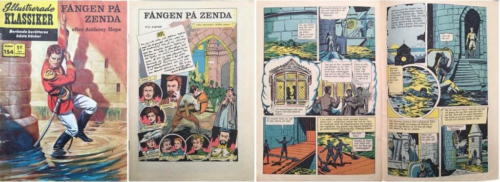 Omslag, förstasida och ett uppslag ur Illustrerade klassiker nr 154. ©IK/Gilberton