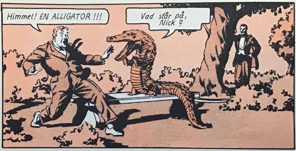 Som vanligt använder Mandrake illusioner i Duell med svindlare. ©Bulls