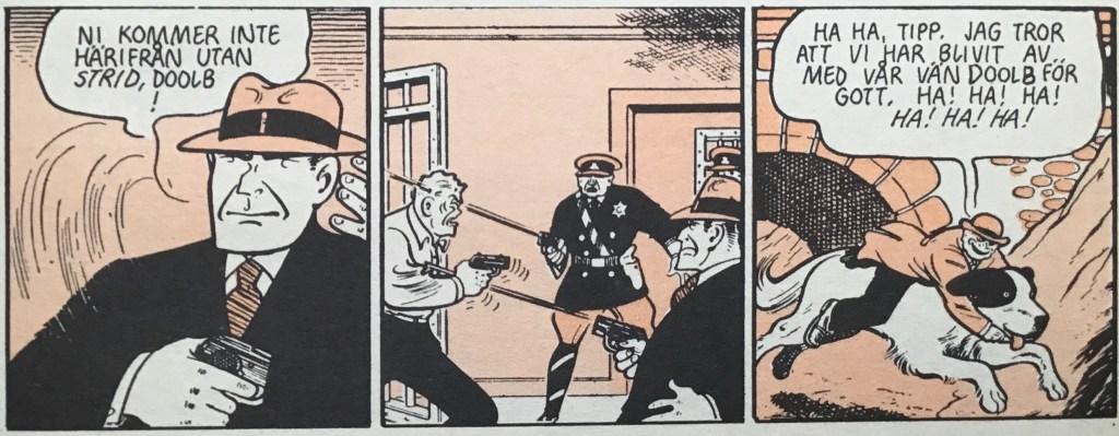 Junky Doolb möter sitt öde, och Jerome Trohs flyr.