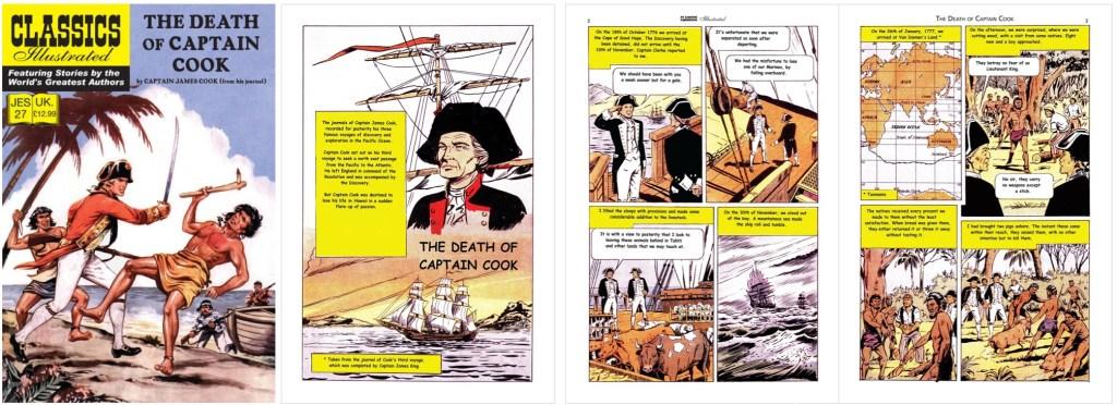Omslag, förstasida och ett första uppslag i engelsk översättning från 80-talet. ©IK/JES