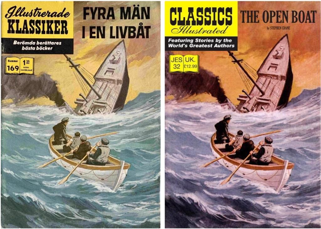 Omslag till Illustrerade klassiker nr 169, och JES No. 32. ©IK/JES
