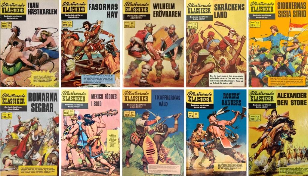 Omslag till Illustrerade klassiker nr 181-190 (1965-66). ©IK/Williams/JES